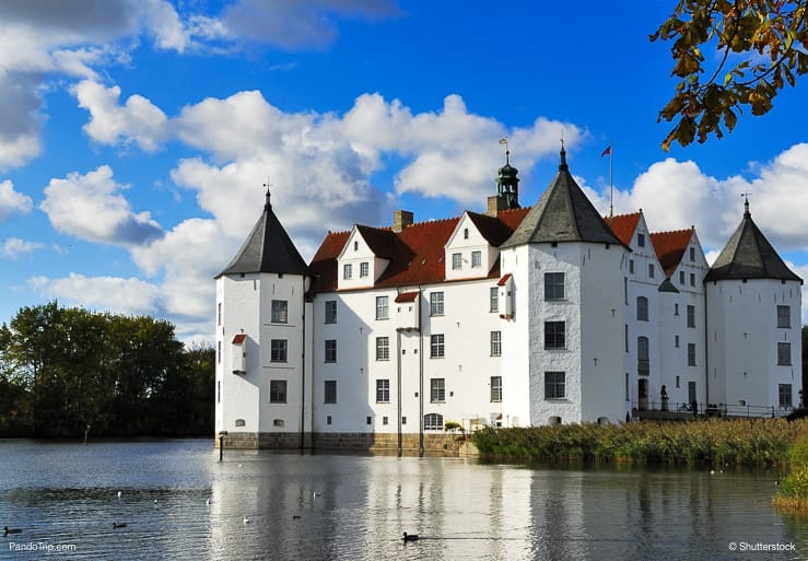 Glucksburg Castle in Flensburg, Germany