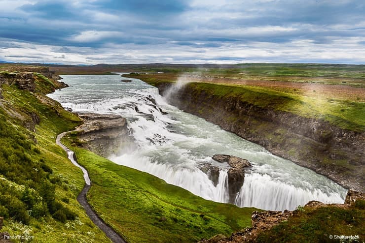 Gullfoss Waterfall one of the most famous landmark in Iceland