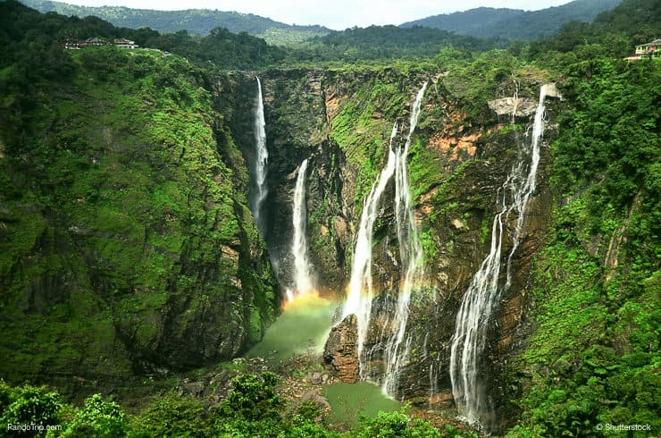 Jog Falls In Karnataka India During The Monsoon Season