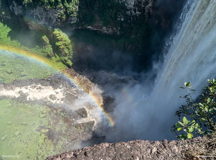 Looking dow at Kaieteur Falls