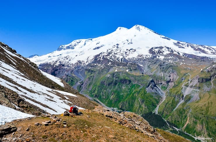 Mount Elbrus, the highest peak of Europe