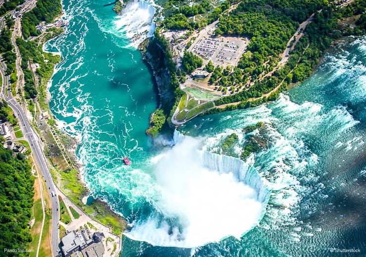 Niagara Falls Drone View