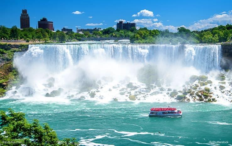 Niagara Falls on a clear sunny day