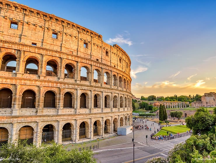 Scenic view of Colosseum, Rome