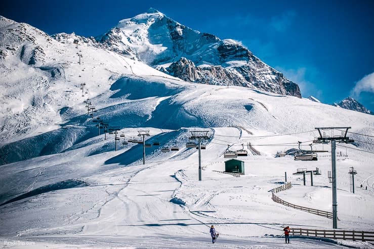 Ski resort, Mount Tetnuldi, Georgia