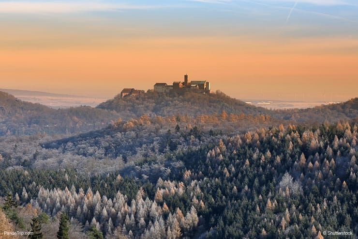 The Wartburg Castle near Eisenach in Germany