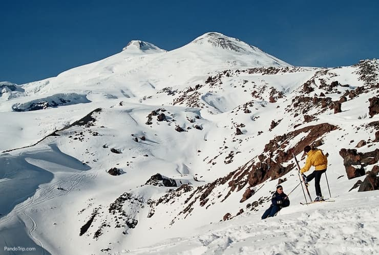 The highest peak of Europe Mount Elbrus