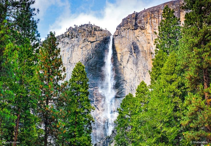 Upper Falls in Yosemite National Park, California