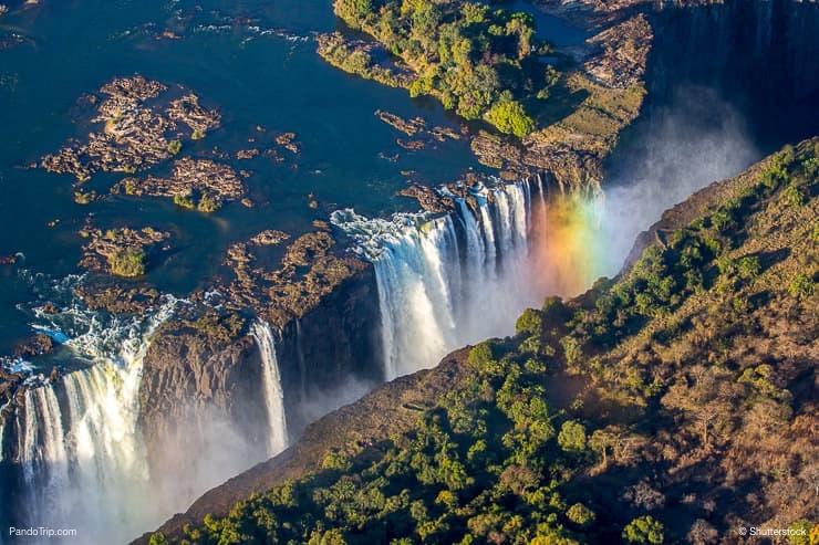 Victoria Falls Drone View
