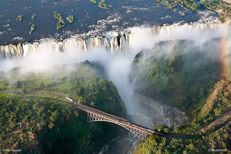 Victoria Falls view from Helicopter