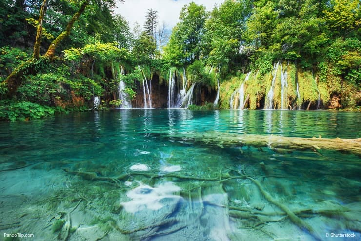 Waterfall and Lake, taken in the national park Plitvice Croatia