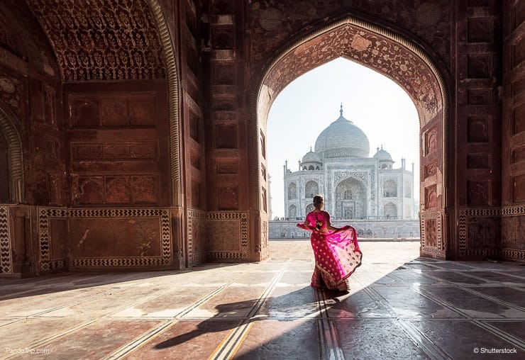 Woman in the Taj Mahal, India