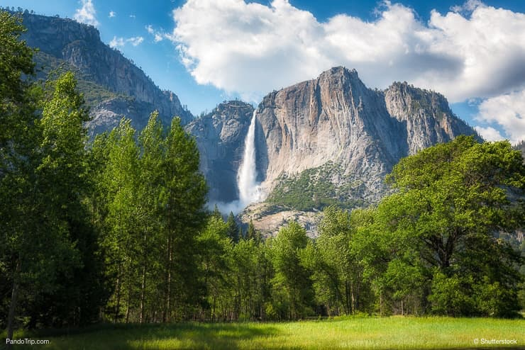Yosemite falls in Yosemite National Park California USA