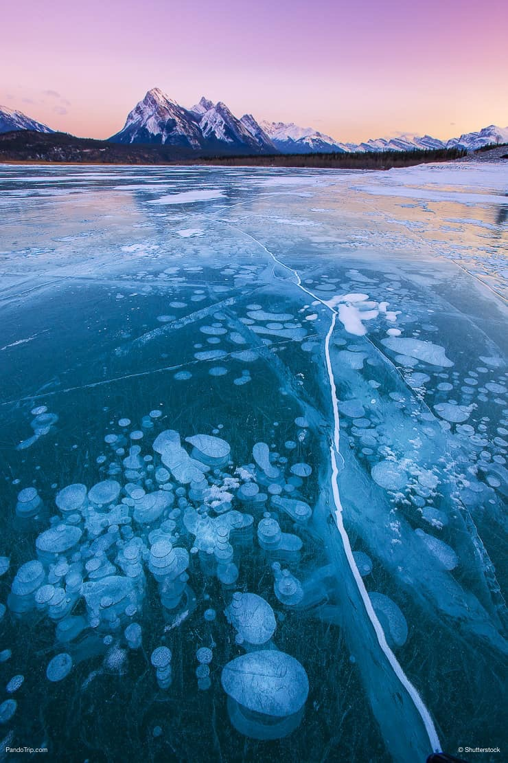 Abraham lake at sunrise