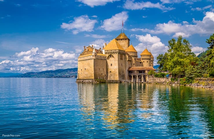 Chateau de Chillon at Lake Geneva, Switzerland