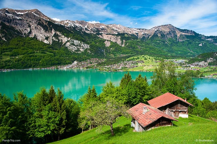 Lake Brienz with the town Brienz in the background, Switzerland