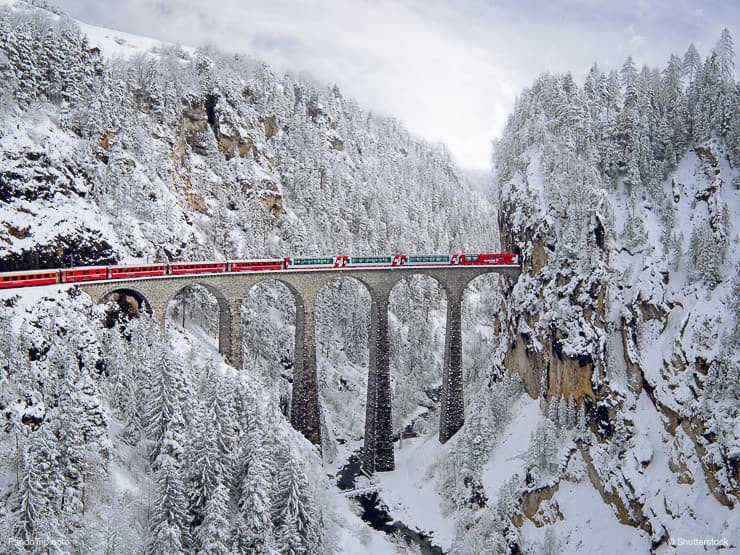 Landwasser Viaduct and Glacier Express