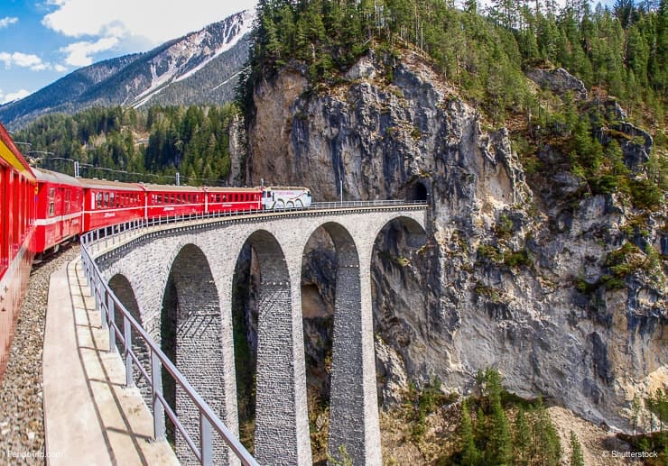Landwasser Viaduct bridge, Switzerland