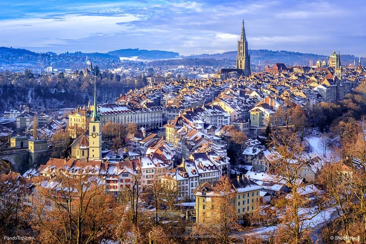 Old Town of Bern in winter