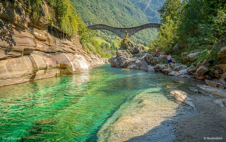 Ponte Dei Salti Bridge, Valle Verzasca, Switzerland