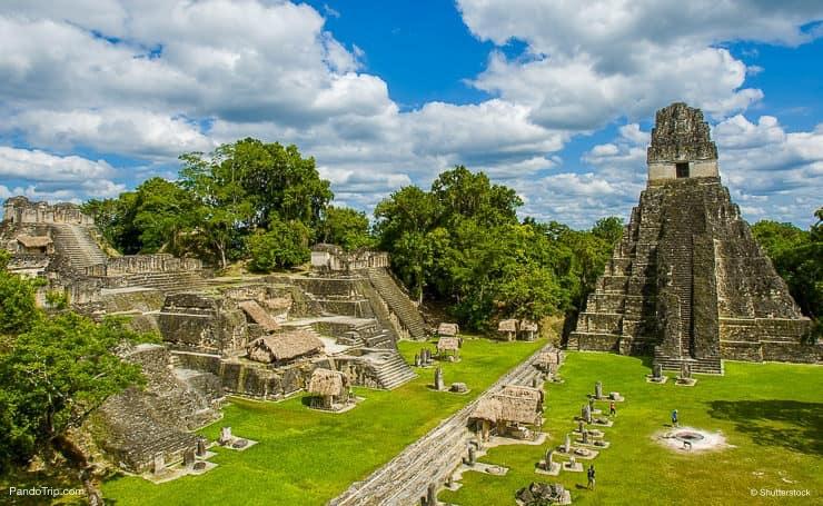 A pyramid in Tikal, Guatemala