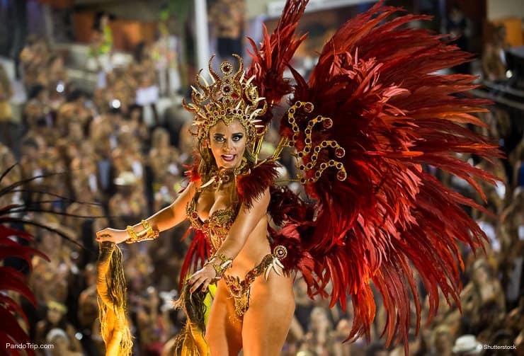 Amazing dancer at the Carnival in Rio de Janeiro, Brasil