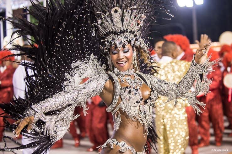 Beautiful Samba Dancer at the Carnival in Rio de Janeiro, Brasil