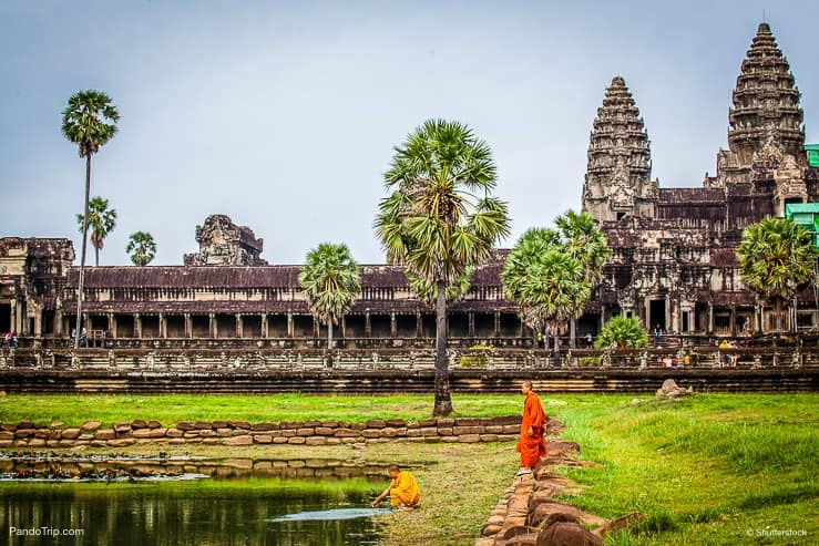 Buddhist monk in Angkor Wat, Cambodia