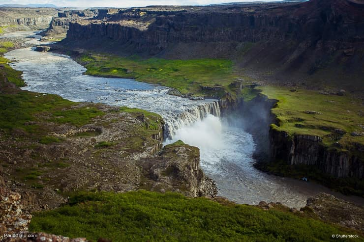 Dettifoss waterfall from above