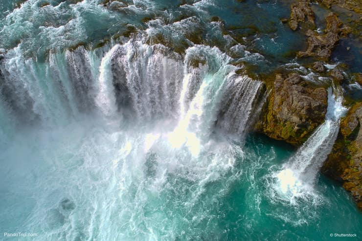 Godafoss waterfall from above