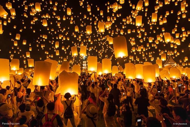 Lantern Festivals, Chiang Mai, Thailand