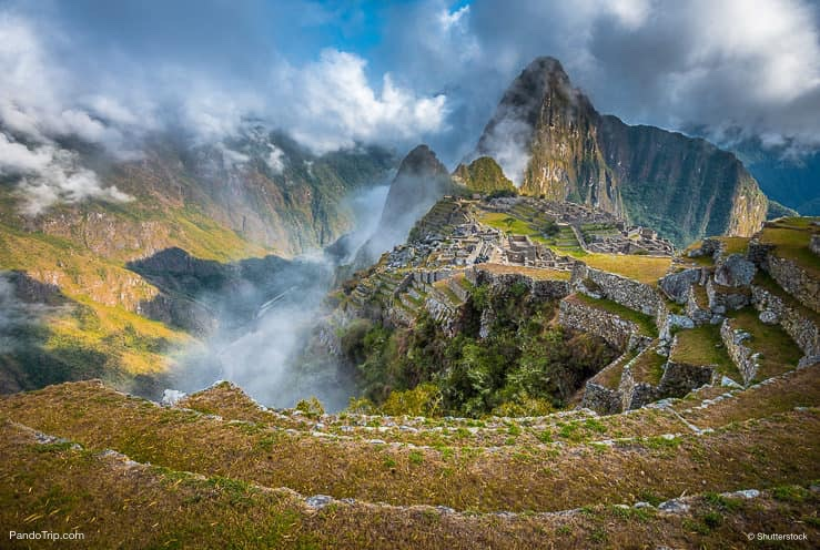 Panoramic view of Machu Picchu in Peru