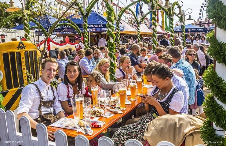 People at Oktoberfest in Munich