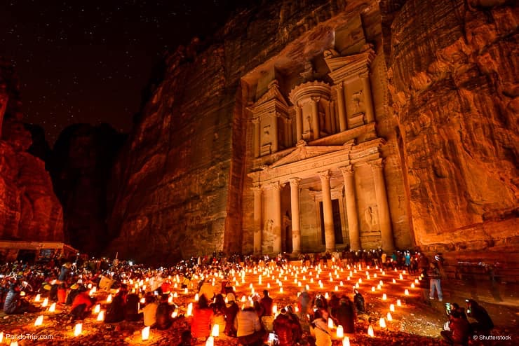 Petra, Jordan at night