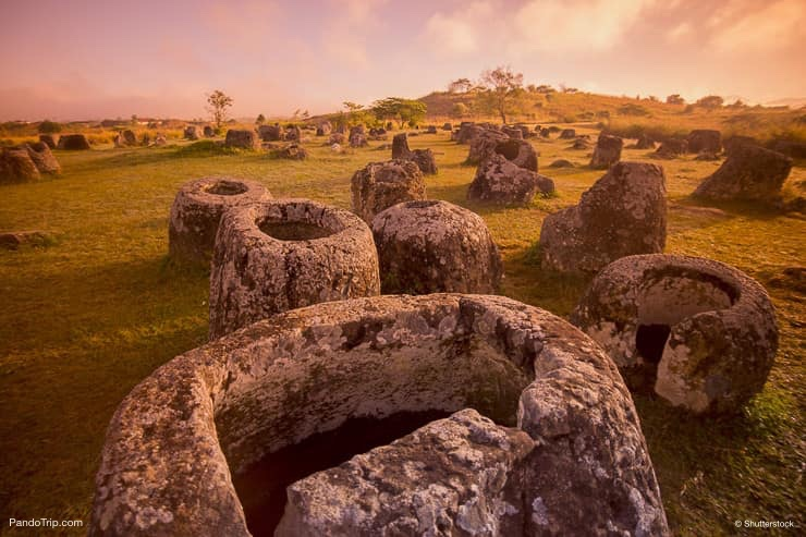 Plain of Jars near the town of Phonsavan in Laos