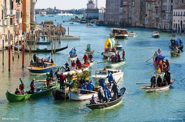 Regatta race performed at the Carnival of Venice