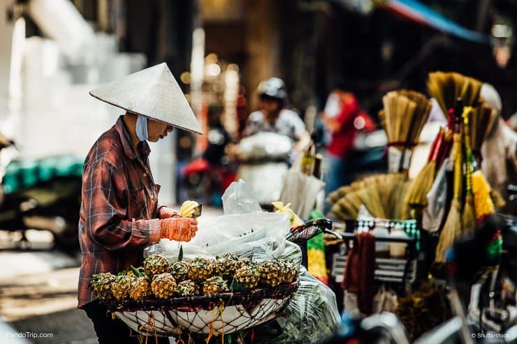 Street food vendor in Vietnam