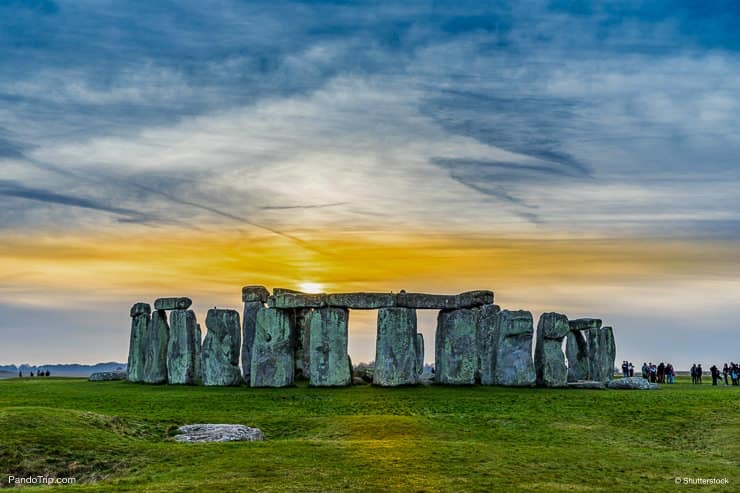 Sunset at the Stonehenge in England