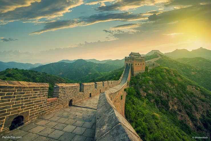 Sunset over the Great Wall, Beijing, China