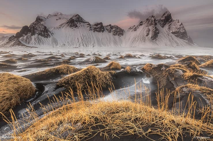 Vestrahorn in winter