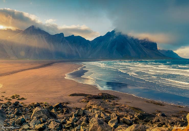 Vestrahorn mountain and Stokksnes beach