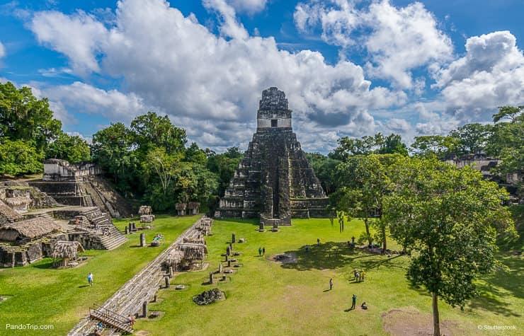 View of Tikal pyramid, Guatemala