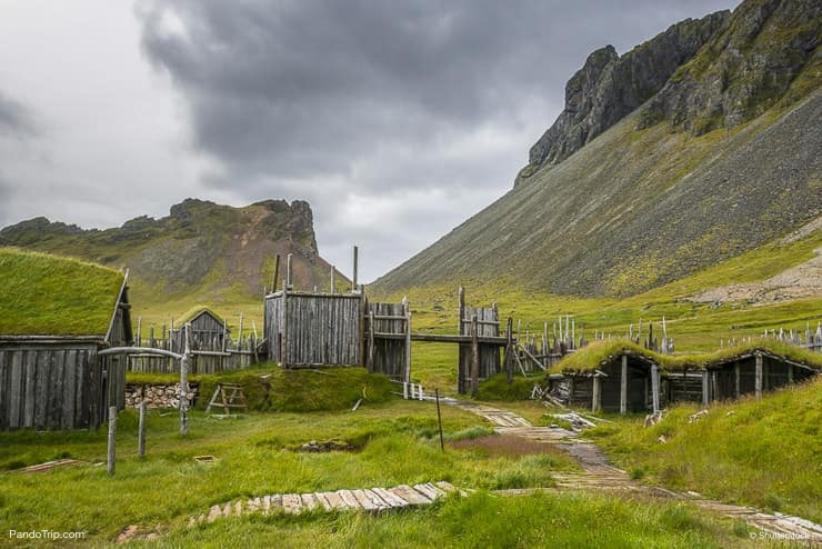 Viking village film set in Stokksnes Peninsula