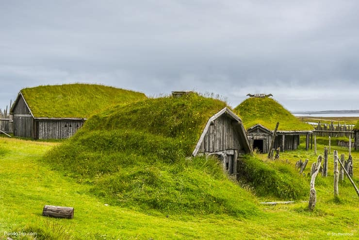 Viking village film set near Vestrahorn, Iceland