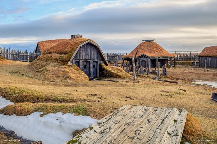 Viking village film set near Vestrahorn