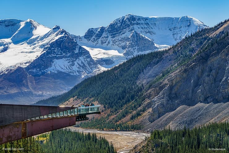 A panoramic view of the glacier skywalk, Canada
