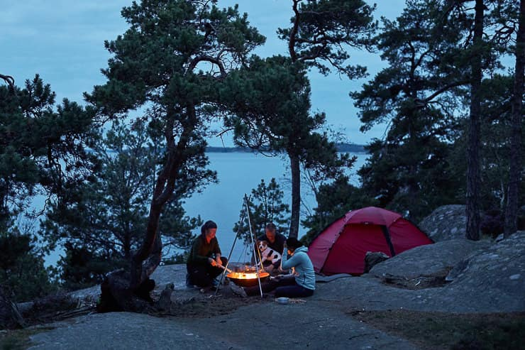 Camping in Stockholm Archipelago