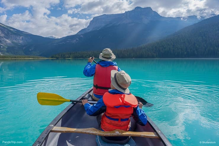 Canoeing on Emerald Lake, Canada