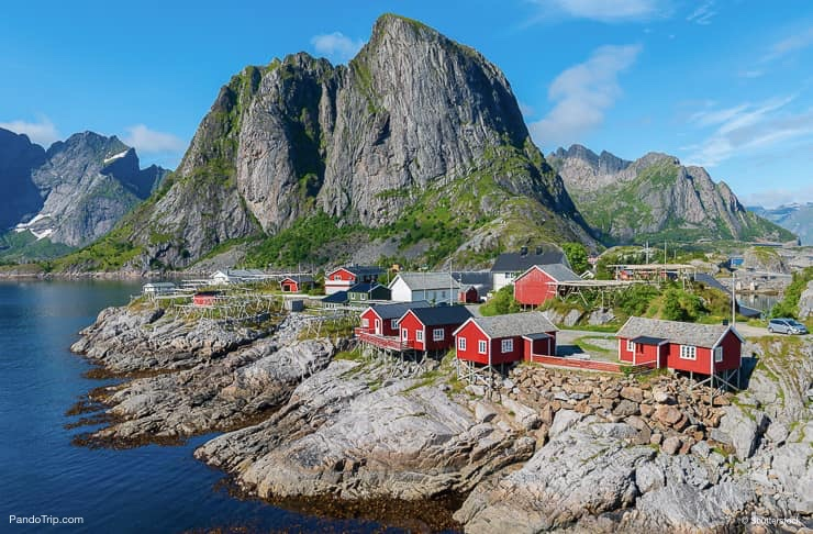 Fishing huts, Reine, Lofoten islands, Norway