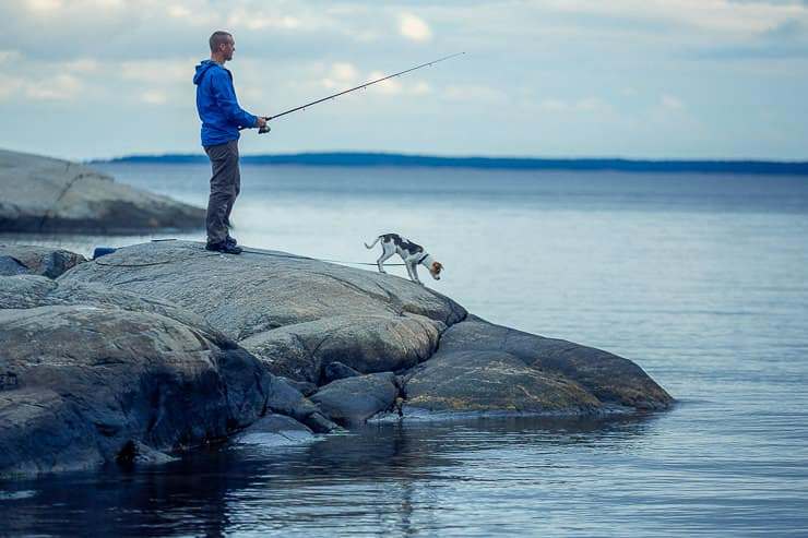 Fishing in Stockholm Archipelago